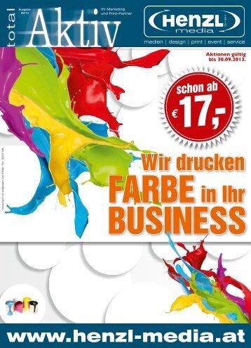 FARBEin Ihr Wir drucken - Henzl Media GmbH