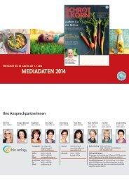 Schrot&Korn Mediadaten 2014 - Bio Verlag GmbH