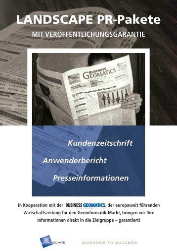 LANDSCAPE PR-Pakete - LANDSCAPE GmbH