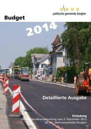 Budget - Gemeinde Bürglen