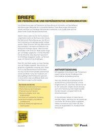 Produktblatt Brief - Österreichische Post AG