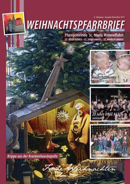 Pfarrbrief Weihnachten 2013 - St Mariä Himmelfahrt