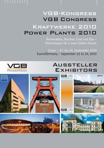 Aus stel ler Exhibitors - VGB PowerTech