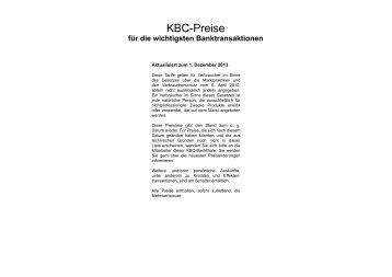 KBC-Preise