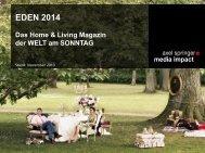 EDEN - Mediadaten 2014 - Axel Springer MediaPilot
