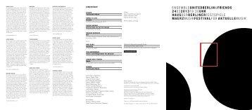 Abendprogramm [PDF, 158 KB] - Berliner Festspiele