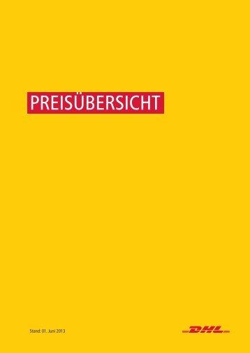 PREISÜBERSICHT - DHL