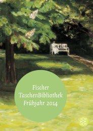 Fischer TaschenBibliothek Frühjahr 2014 - S. Fischer Verlag