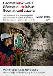 Media-Daten 2014 zum downloaden - Geomatik Schweiz