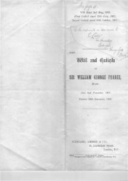 Will and Codicils of Sir William George Pearce, Bart. - Hungerford ...