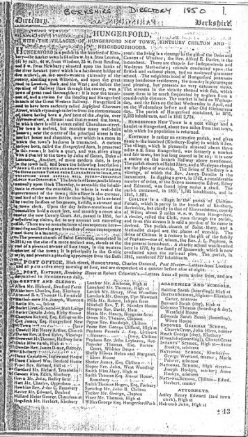 1850 Berkshire Directory-01 - Hungerford Virtual Museum