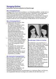 Kurzportraits als PDF-Datei - Hungrig-Online