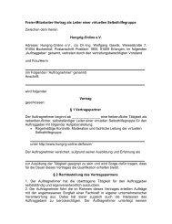 Freier-Mitarbeiter-Vertrag als Leiter einer virtuellen ... - Hungrig-Online