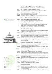 Curriculum Vitae for Jens Hvass - Hungry Planet - mellem køkken og ...