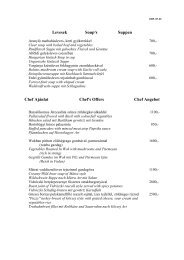 Levesek Soup's Suppen Chef Ajánlat Chef's ... - Hunguest Hotels
