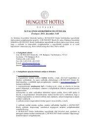 ÁLTALÁNOS SZERZŐDÉSI FELTÉTELEK ... - Hunguest Hotels