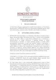 ÜZLETI KÁRTYA PROGRAM - Hunguest Hotels