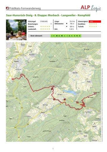 8. Etappe: Morbach - Langweiler - Kempfeld - Hunsrück Touristik ...