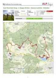 2. Etappe: Britten - Stausee Losheim - Scheiden - Hunsrück Touristik ...