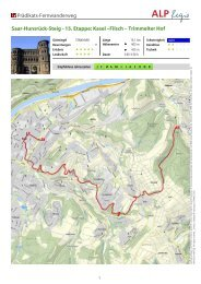 15. Etappe: Kasel –Filsch – Trimmelter Hof - Hunsrück Touristik GmbH
