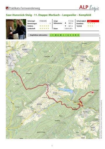 Saar-Hunsrück-Steig - 11. Etappe: Morbach – Langweiler – Kempfeld