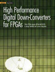 Xilinx: High Performance Digital Down-Converters for FPGAs (Xcell ...