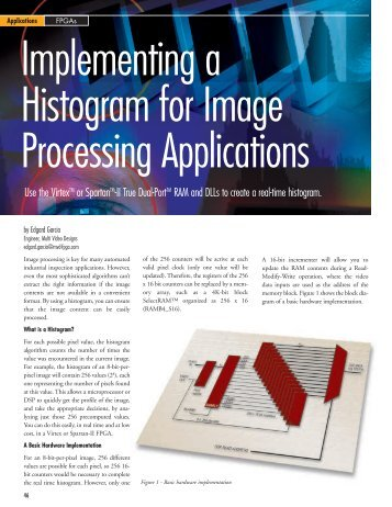 Xilinx: Implementing a Histogram for Image Processing Applications ...