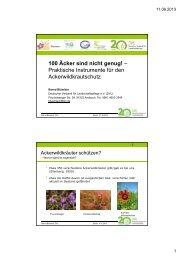 100 Äcker sind nicht genug! - Deutscher Verband für ...