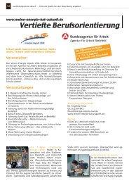 Vertiefte Berufsorientierung - Energie Impuls OWL eV