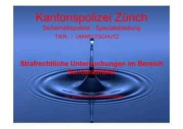 Referat von Emil Ott, KAPO Zürich, über strafrechtliche ...