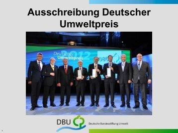 Präsentation Mitgliederversammlung DBU Umweltpreis - GCB