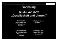 """Vorlesung Modul A-1.0-02 """"Gesellschaft und Umwelt"""""""