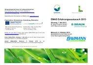 EMAS Erfahrungsaustausch 2013