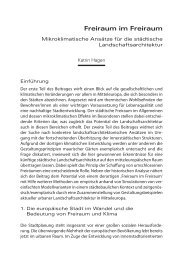 Freiraum im Freiraum. Mikroklimatische Ansätze fur die ... - TU Wien