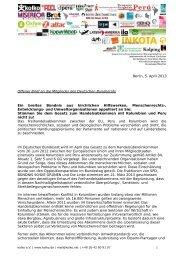 Offenen Brief - AG Friedensforschung