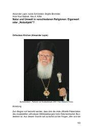 Natur und Umwelt in verschiedenen Religionen - Österreichs ...