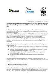 Stellungnahme der Umweltverbände zum Bericht der - BUND