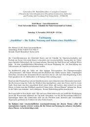 """""""Stadtblau"""" – Die Talfer, Nutzung und Schutz eines Stadtflusses"""