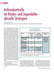 Asthmakontrolle im Kindes- und Jugendalter – aktuelle Strategien