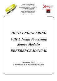 VHDL Imaging sources User Manual - Hunt Engineering