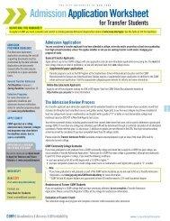 Freshman Application Worksheet - Baruch College - CUNY