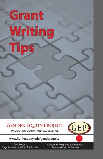 Grant Writing Tips Booklet - Hunter College - CUNY
