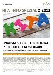 niw info spezial 2/2013: Unausgeschöpfte Potenziale in der Kita ...