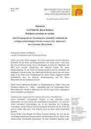 Statement von Prälat Dr. Klaus Krämer, Präsident von missio in ...