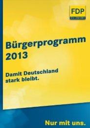 FDP-Bürgerprogramm 2013