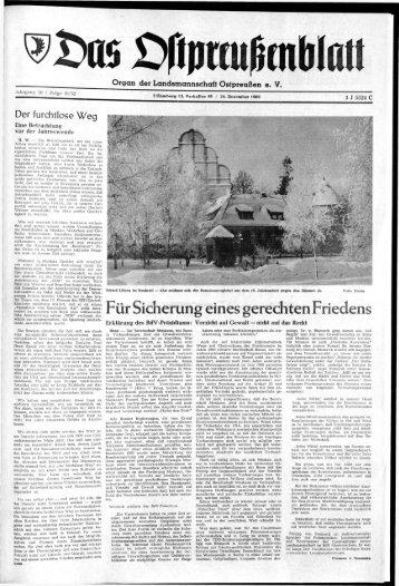 Folge 51 vom 24.12.1969 - Archiv Preussische Allgemeine Zeitung