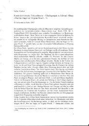 Wer hat Angst vor Virginia Woolf? - Universität zu Köln