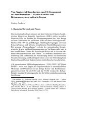 Vom Staatszerfall Jugoslawiens zum EU-Engagement auf dem ...