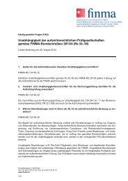 FAQ: Unabhängigkeit der aufsichtsrechtlichen ... - Finma