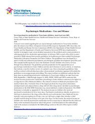 Psychotropic Medications - Use and Misuse